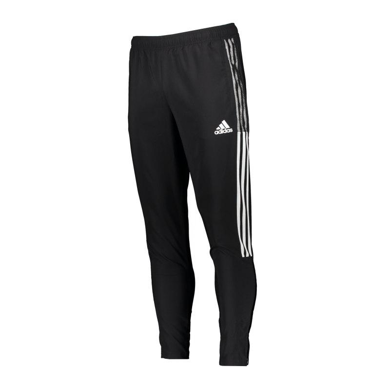 adidas Tiro 21 Woven Trainingshose Schwarz - schwarz
