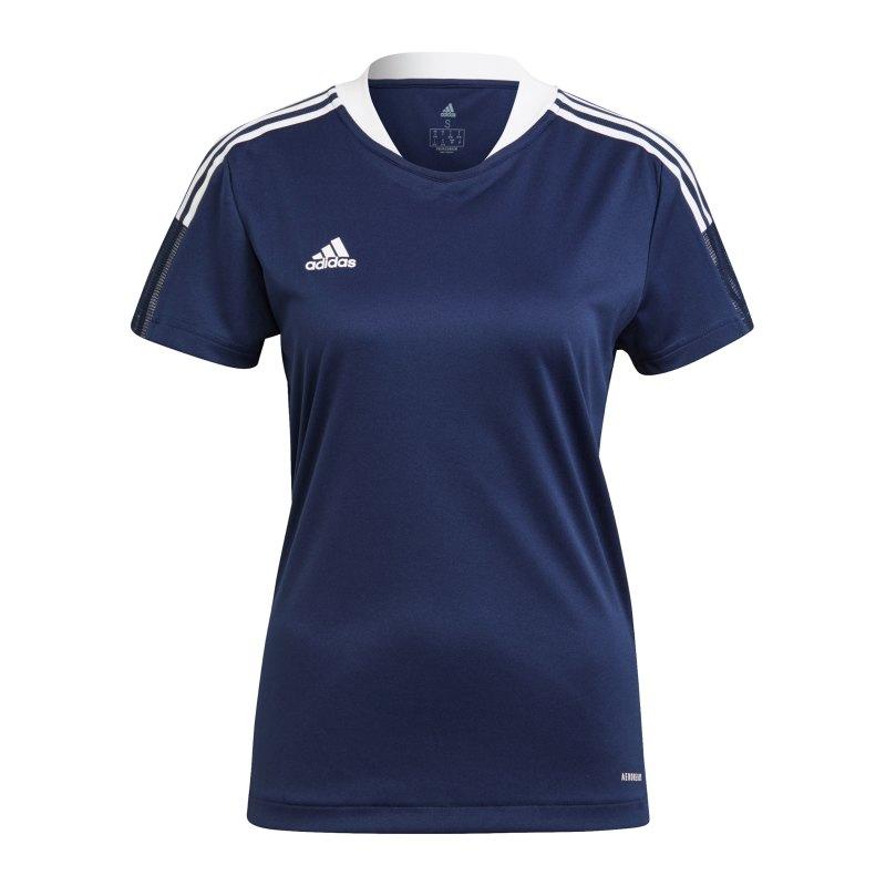adidas Tiro 21 Trainingsshirt Damen Dunkelblau - blau