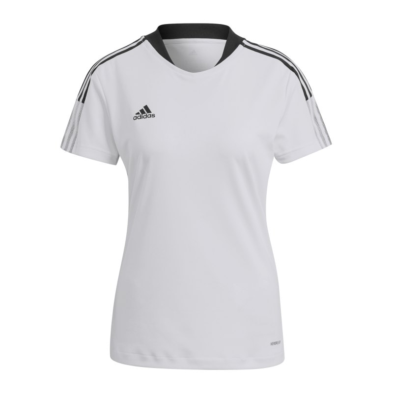 adidas Tiro 21 Trainingsshirt Damen Weiss - weiss