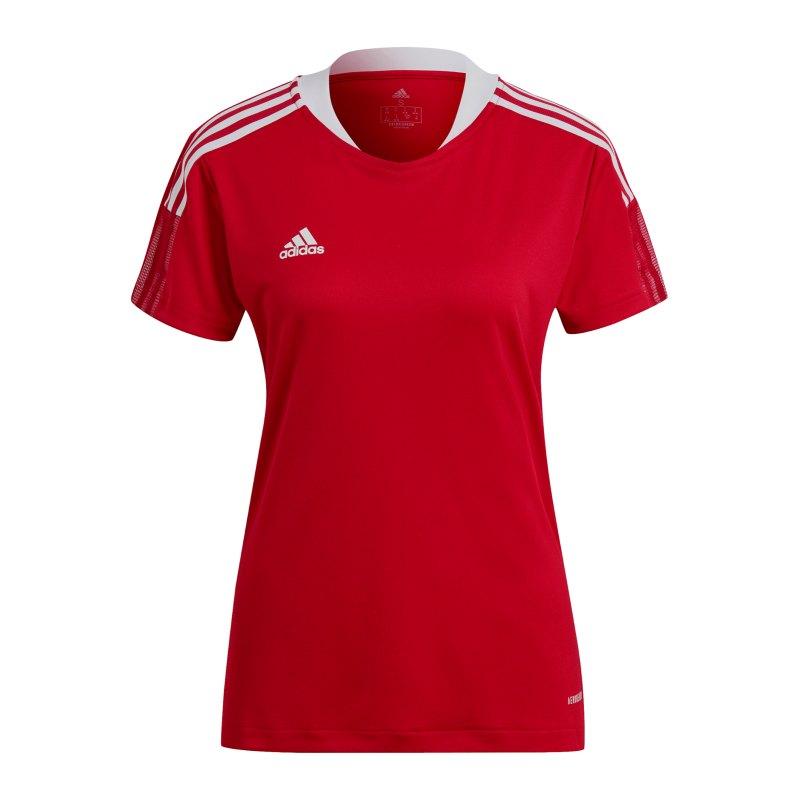 adidas Tiro 21 Trainingsshirt Damen Rot - rot