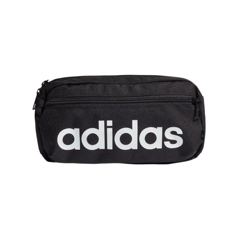 adidas Linear Logo Hüfttasche Schwarz Weiss - schwarz