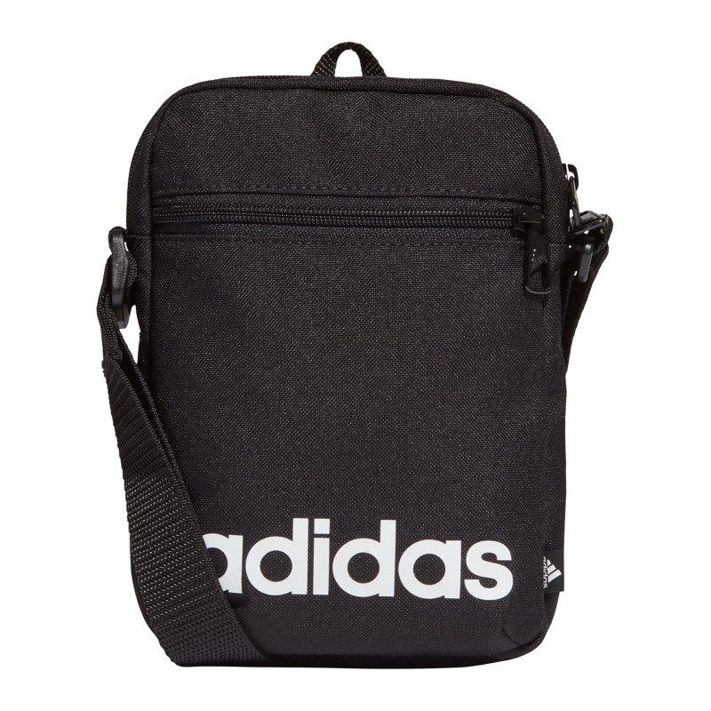adidas Linear Tasche Schwarz Weiss - schwarz