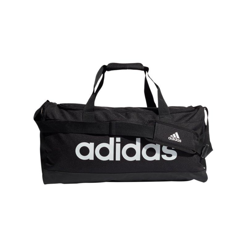 adidas Essentials Duffelbag Gr. M Schwarz Weiss - schwarz