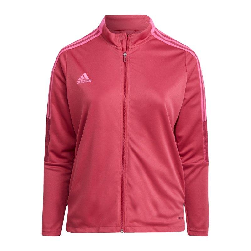 adidas Tiro Trainingsjacke Plus Size Damen Pink - pink