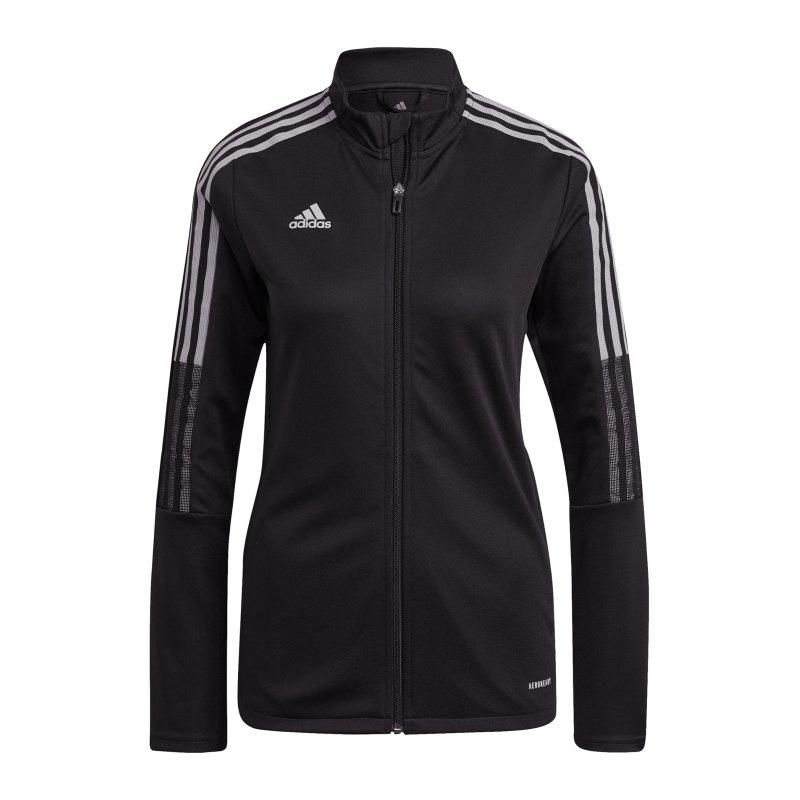 adidas Tiro Reflective Wording Jacke Damen Schwarz - schwarz