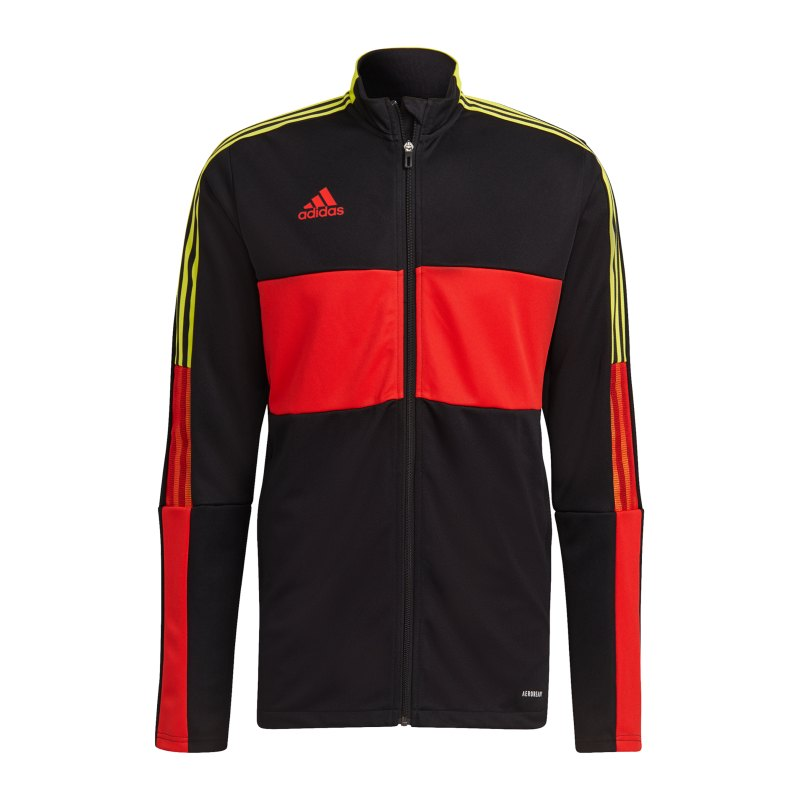 adidas Tiro Trainingsjacke Schwarz Rot Gelb - schwarz