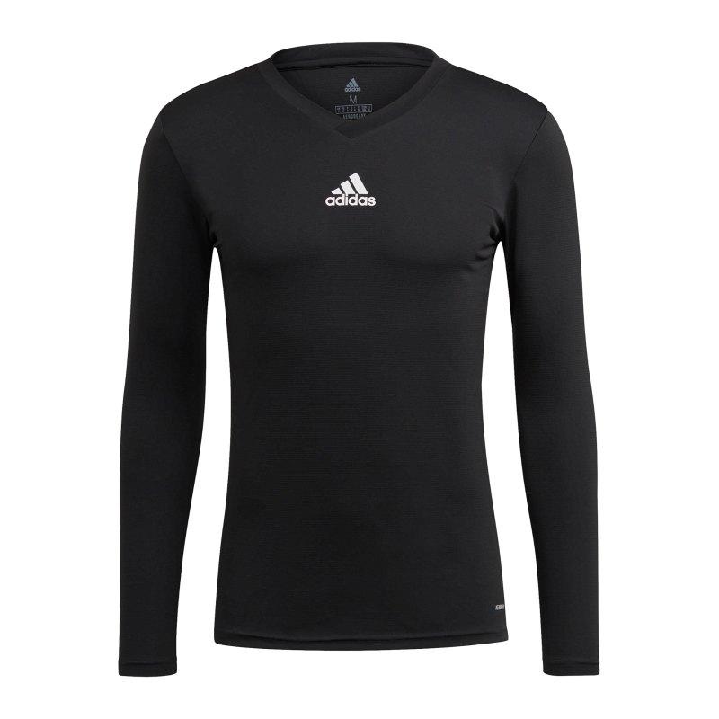 adidas Team Base Top langarm Schwarz - schwarz