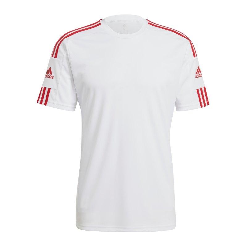 adidas Squadra 21 Trikot Weiss Rot - weiss