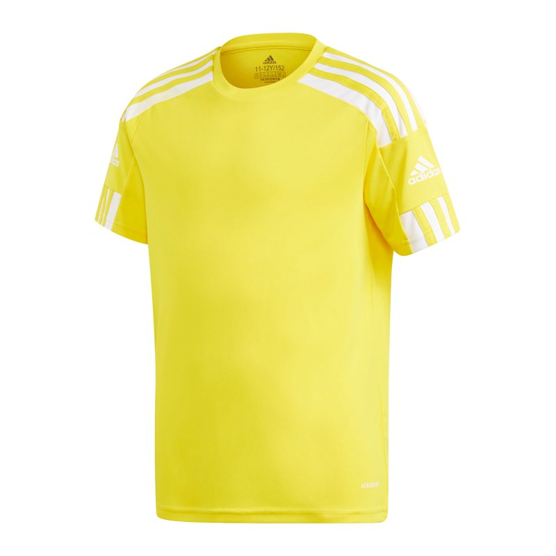 adidas Squadra 21 Trikot Kids Gelb Weiss - gelb