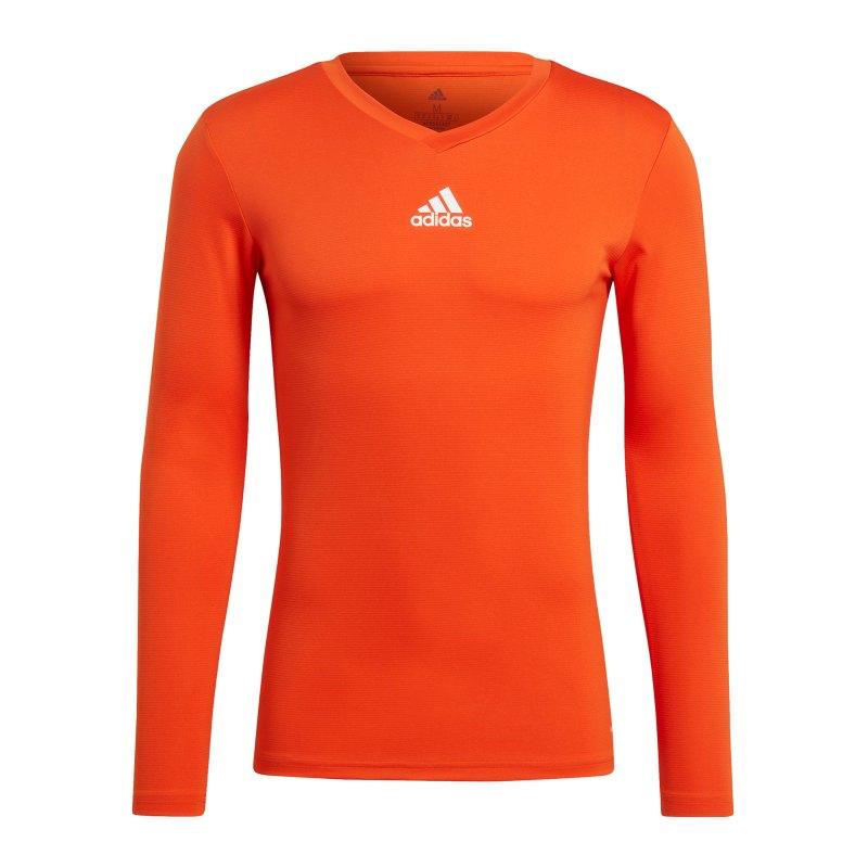 adidas Team Base Top langarm Orange - orange