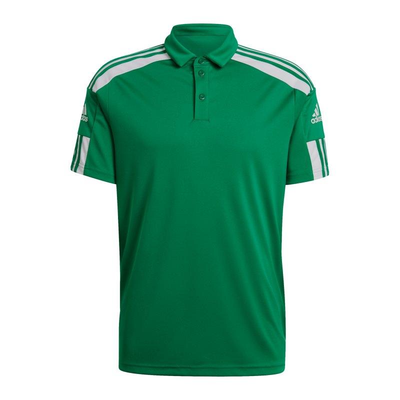 adidas Squadra 21 Poloshirt Grün Weiss - gruen
