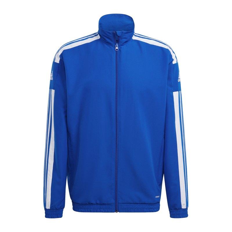adidas Squadra 21 Präsentationsjacke Blau Weiss - blau