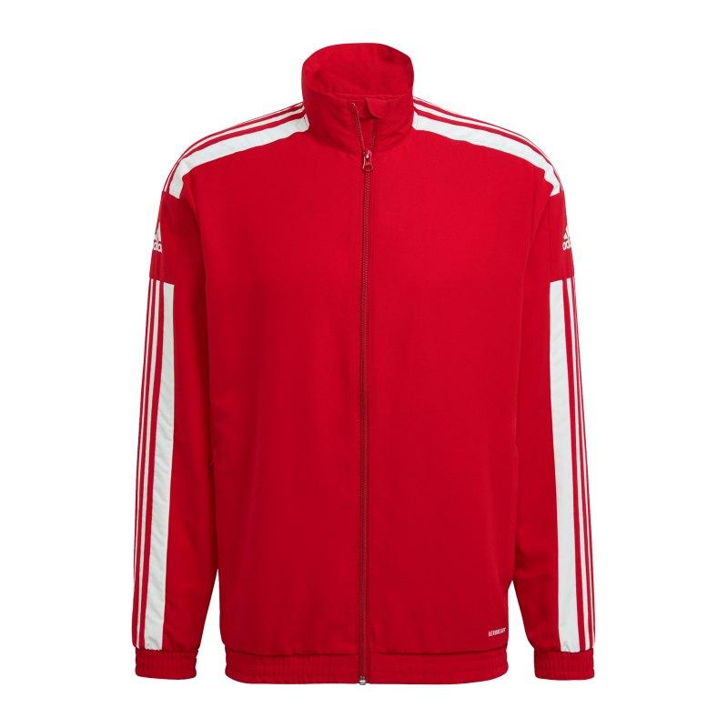 adidas Squadra 21 Präsentationsjacke Rot Weiss - rot