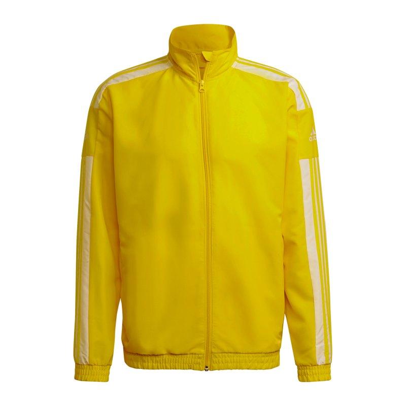 adidas Squadra 21 Präsentationsjacke Gelb Weiss - gelb