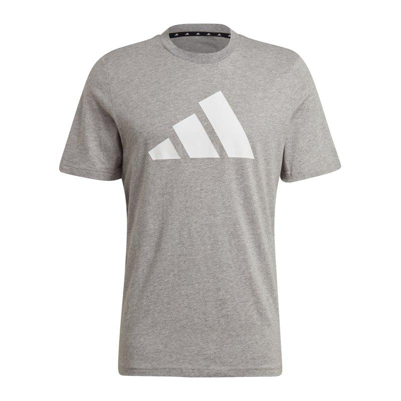 adidas BOS T-Shirt Grau Weiss - grau