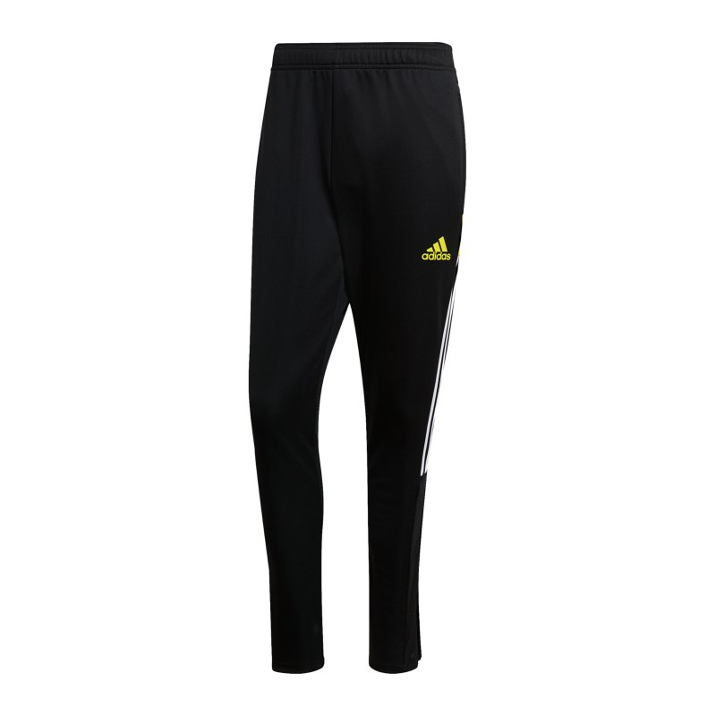 adidas Tiro Trainingshose Schwarz Gelb - schwarz