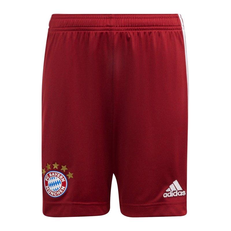 adidas FC Bayern München Short Home 2021/2022 Kids Rot - rot