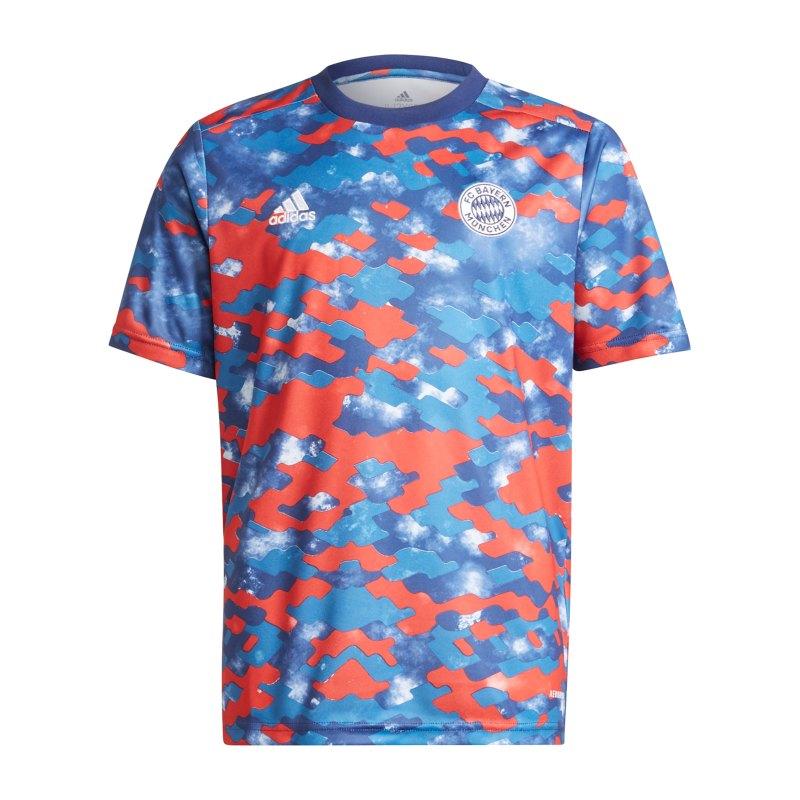 adidas FC Bayern München Prematch Shirt 2021/2022 Kids Blau - blau