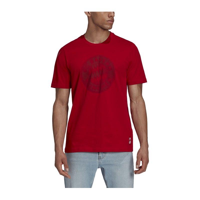adidas FC Bayern München T-Shirt Rot - rot