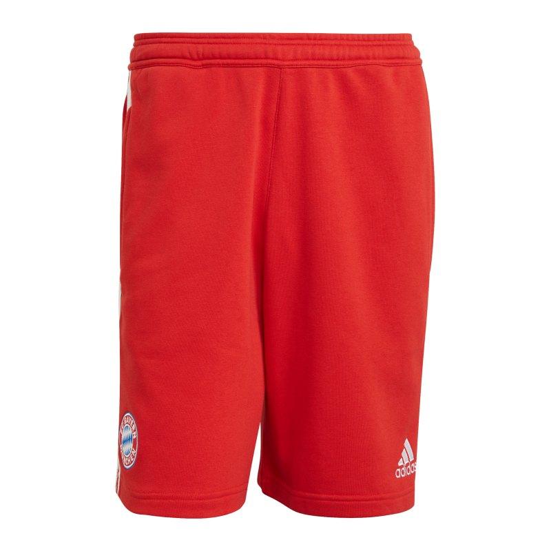 adidas FC Bayern München 3S Sweat Short Rot - rot