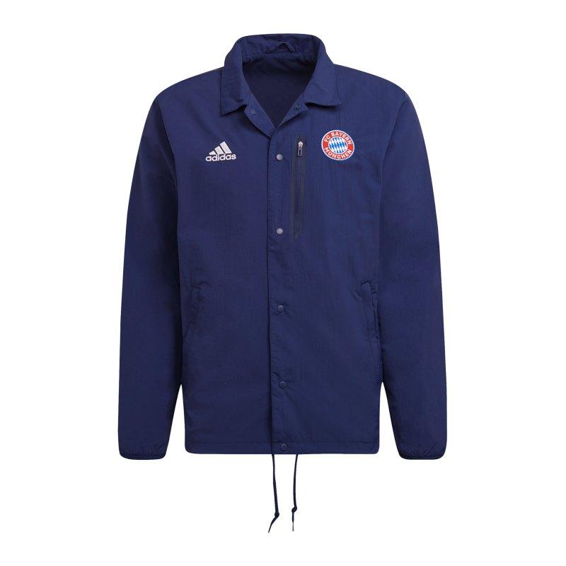 adidas FC Bayern München Coachjacke Blau - blau