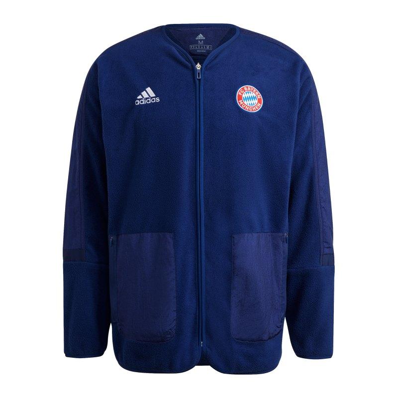 adidas FC Bayern München Freizeitjacke Blau - blau