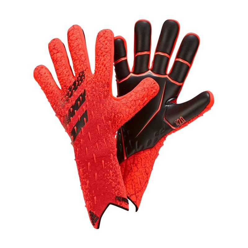 adidas Predator Pro Meteorite Torwarthandschuh Rot Schwarz - rot