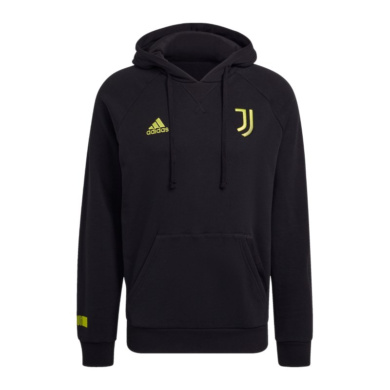 adidas Juventus Turin Hoody Schwarz Gelb - schwarz