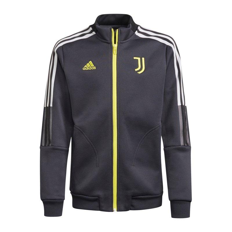 adidas Juventus Turin Präsentationsjacke Grau - grau