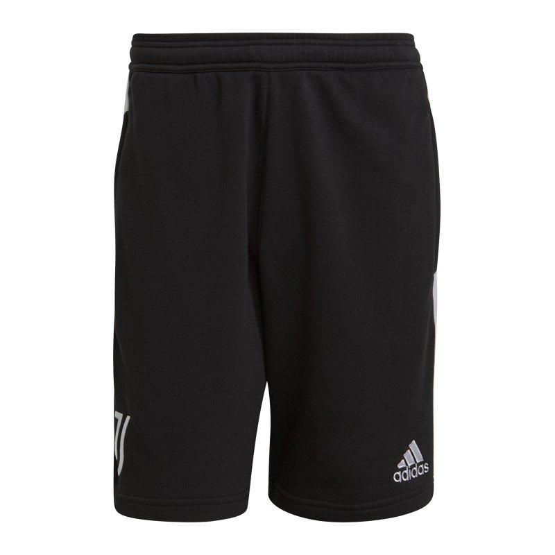 adidas Juventus Turin 3S Short Schwarz - schwarz