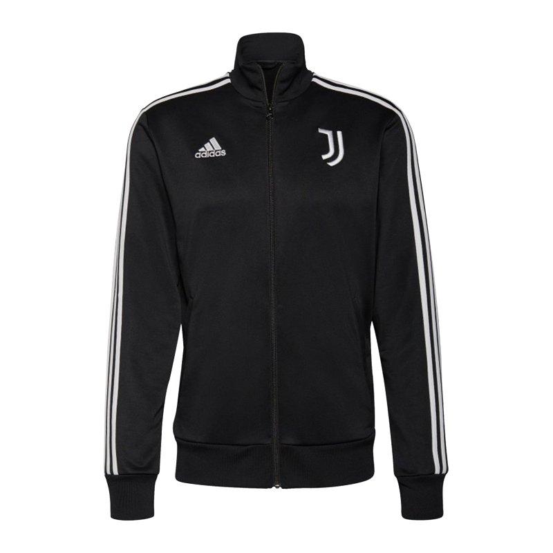 adidas Juventus Turin 3S Tracktop Jacke Schwarz - schwarz