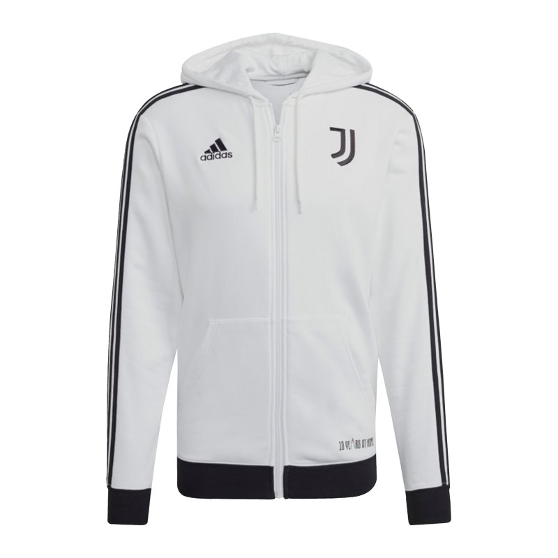adidas Juventus Turin 3S Kapuzenjacke Weiss - weiss