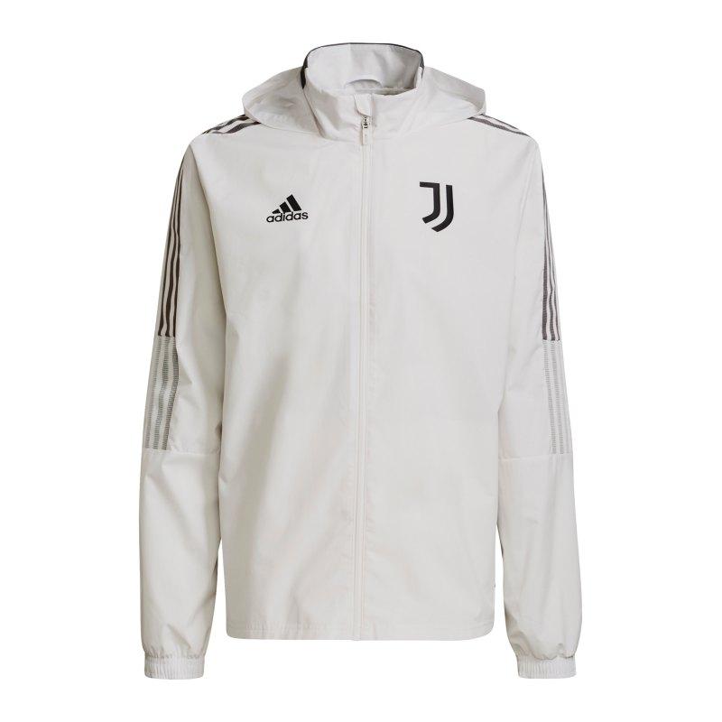 adidas Juventus Turin Allwetterjacke Weiss - weiss