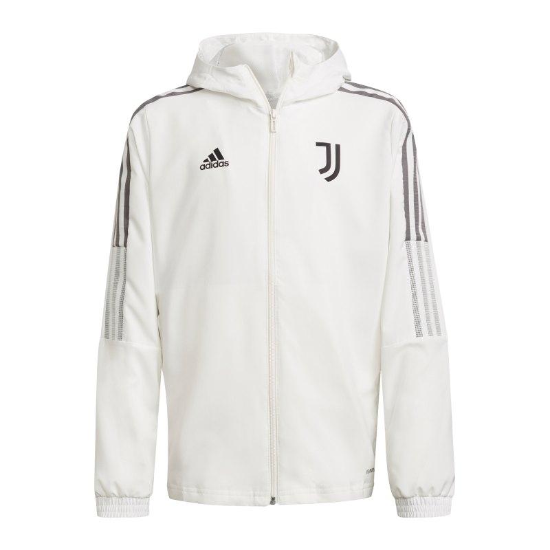 adidas Juventus Turin Prematch Jacke 2021/2022 Kids Weiss - weiss