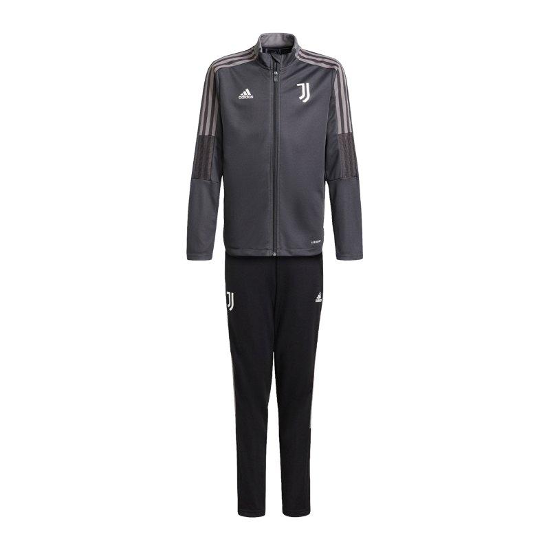 adidas Juventus Turin Trainingsanzug Kids Grau - grau