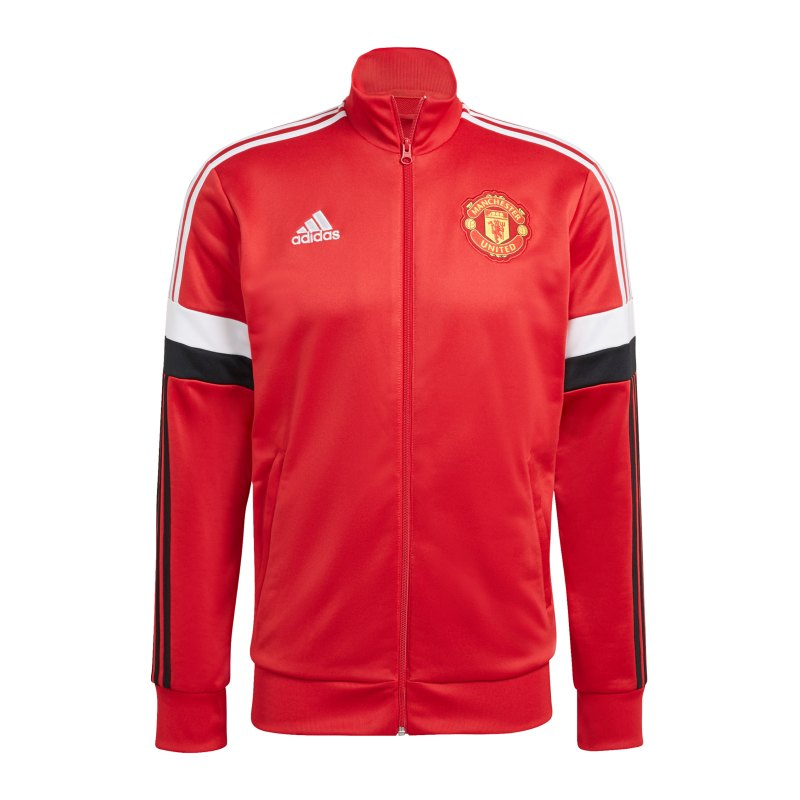 adidas Manchester United 3S Tracktop Jacke Rot - rot
