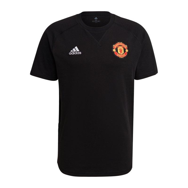 adidas Manchester United T-Shirt Schwarz - schwarz