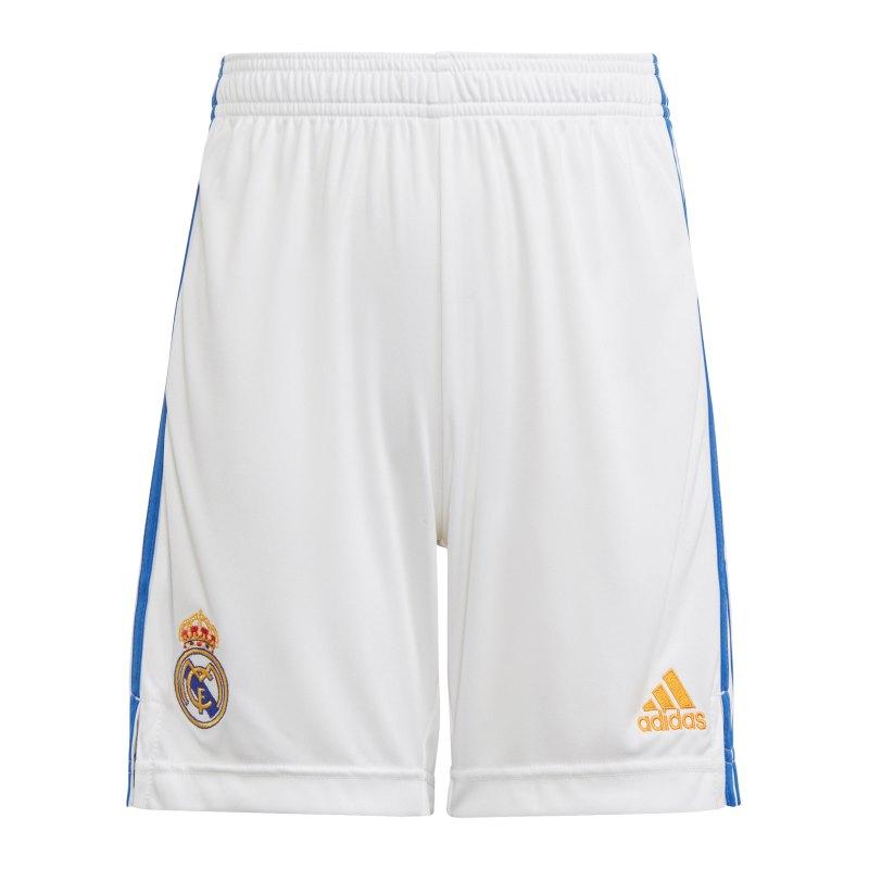 adidas Real Madrid Short Home 2021/2022 Kids Weiss - weiss