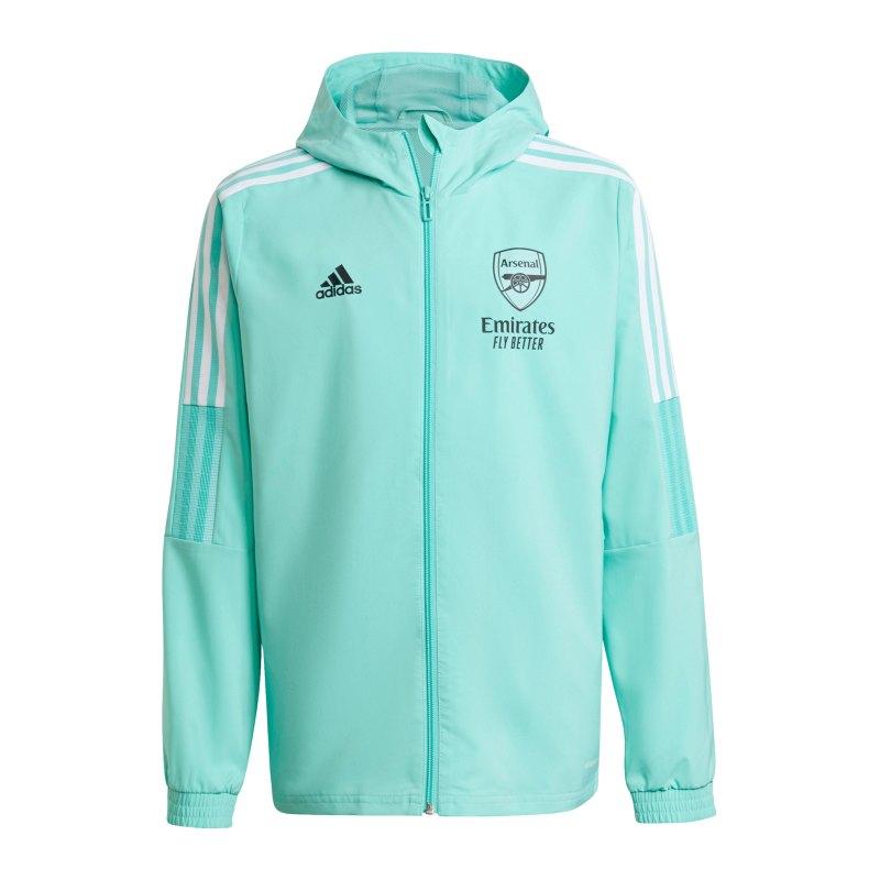adidas FC Arsenal London Prematch Jacke 2021/2022 Kids Grün - gruen