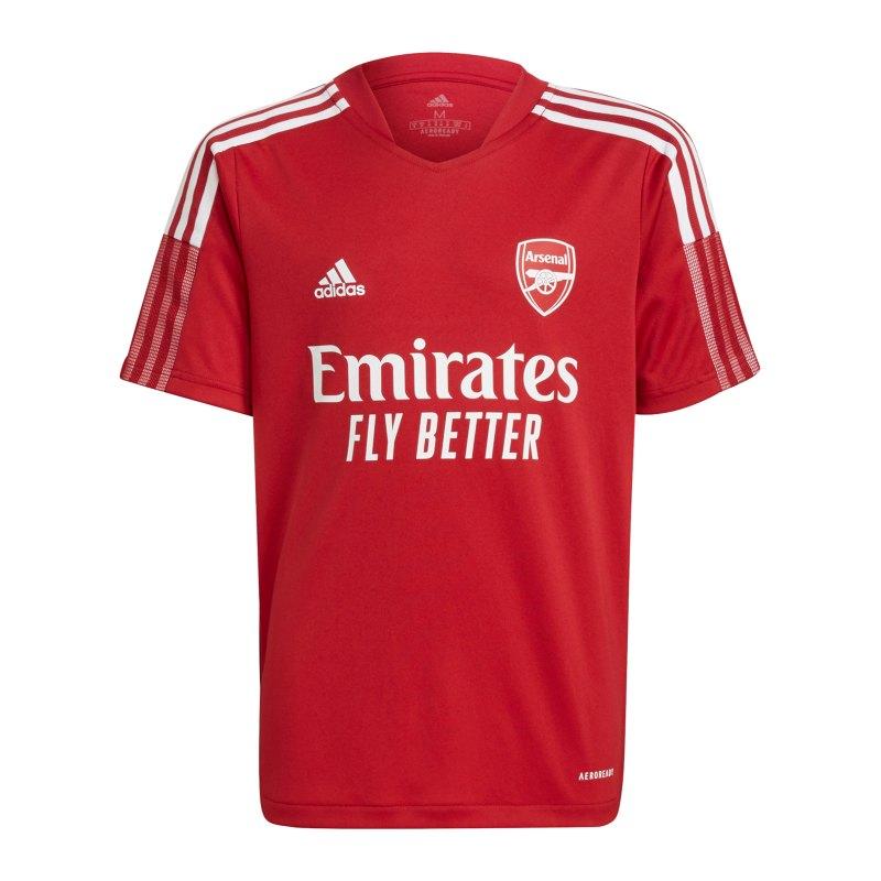 adidas FC Arsenal London Trainingsshirt Kids Rot - rot