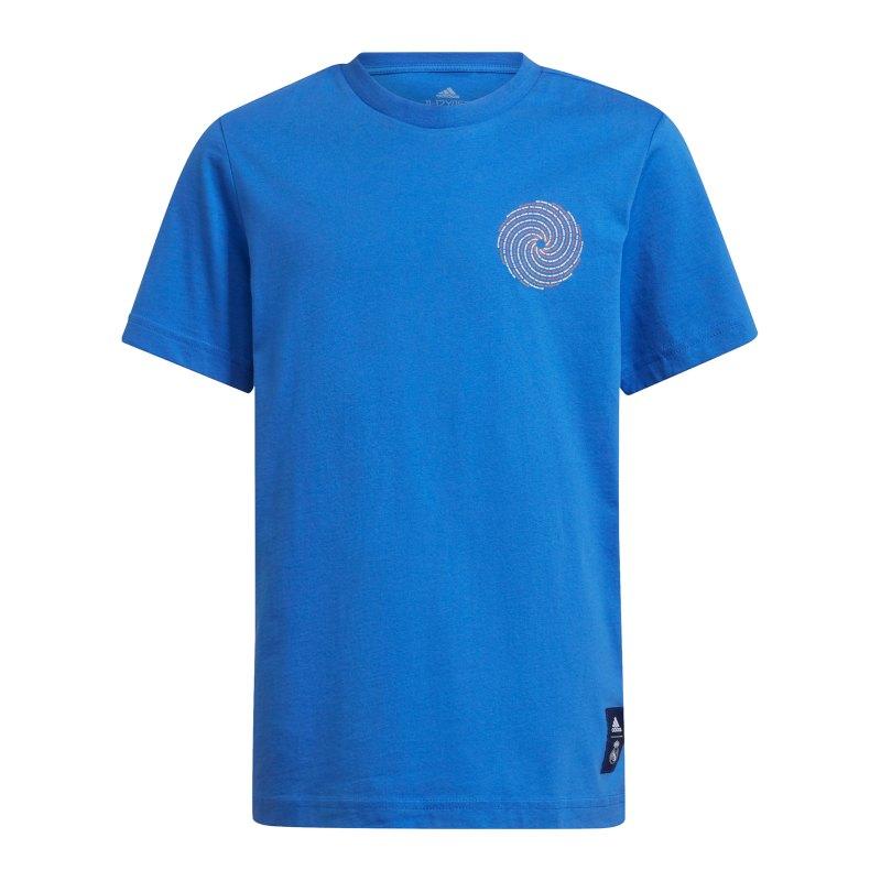 adidas Real Madrid T-Shirt Kids Blau - blau