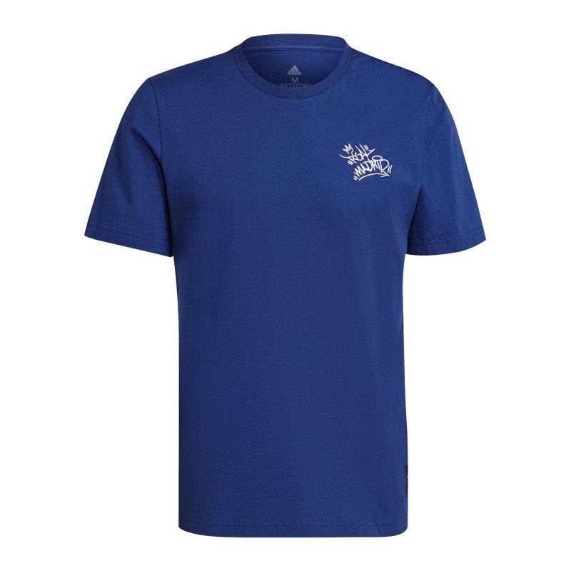 adidas Real Madrid Street T-Shirt Blau - blau