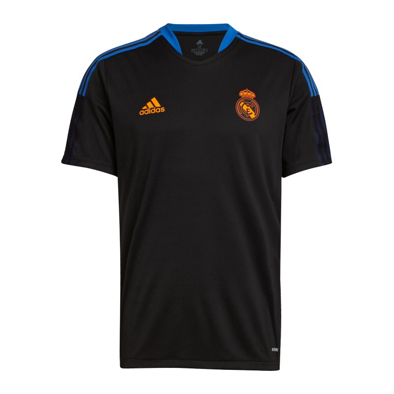 adidas Real Madrid Trainingsshirt Schwarz - schwarz