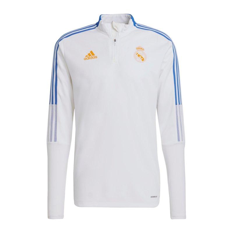 adidas Real Madrid HalfZip Sweatshirt Weiss - weiss