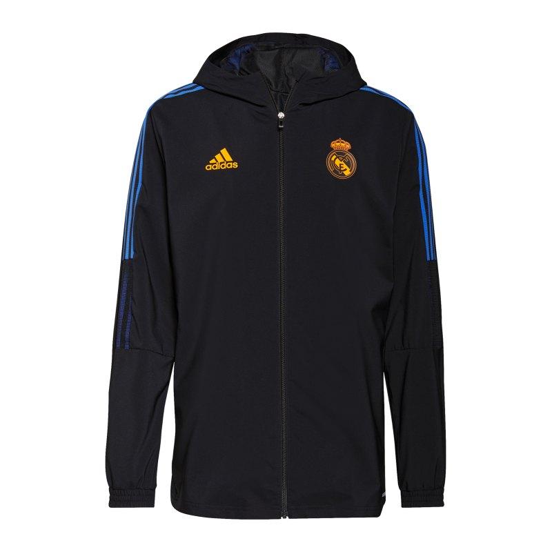 adidas Real Madrid Prematch Jacke 2021/2022 Schwarz - schwarz