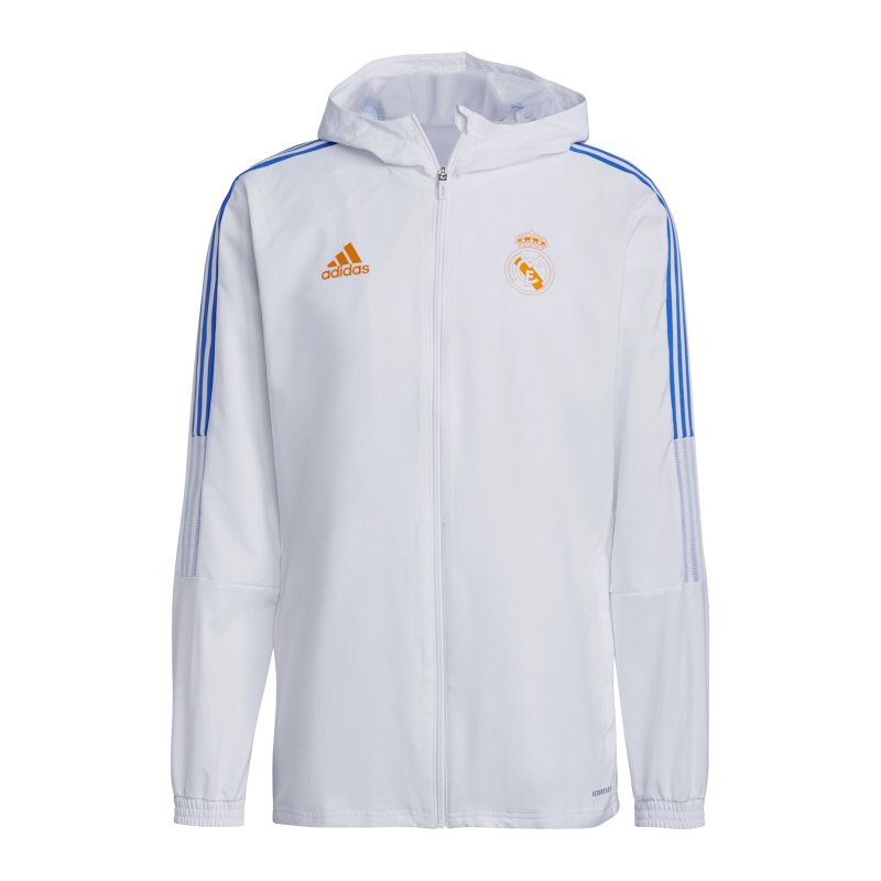 adidas Real Madrid Prematch Jacke 2021/2022 Weiss - weiss