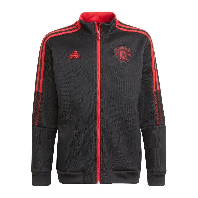 adidas Manchester United Jacke Kids Schwarz - schwarz