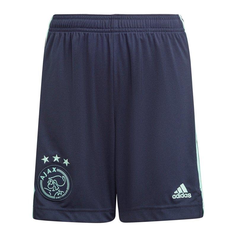 adidas Ajax Amsterdam Short Away 2021/2022 Kids Blau - blau