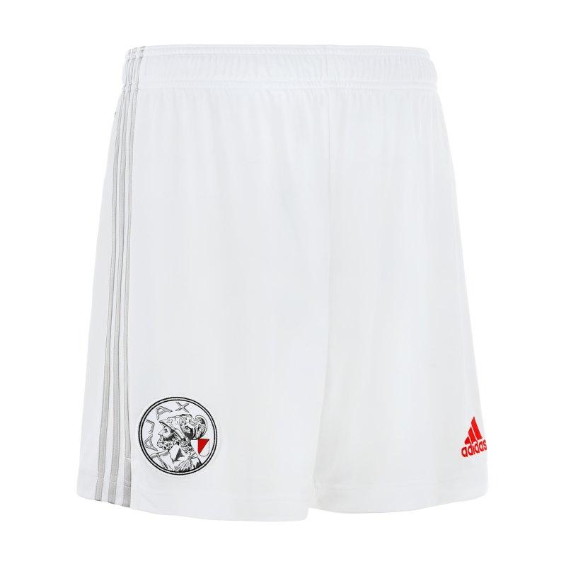 adidas Ajax Amsterdam Short Home 2021/2022 Kids Weiss - weiss