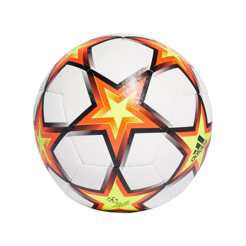 adidas UCL Finale 21 Trainingsball Weiss Gelb - gelb